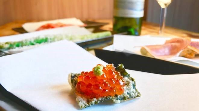 旬の食材とイタリアンの調味料や食材を活かした創作天ぷら